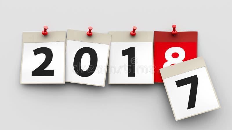 Kalendern täcker 2018 vektor illustrationer