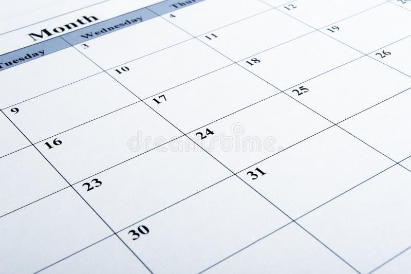 Kalendernahaufnahme lizenzfreie stockfotos