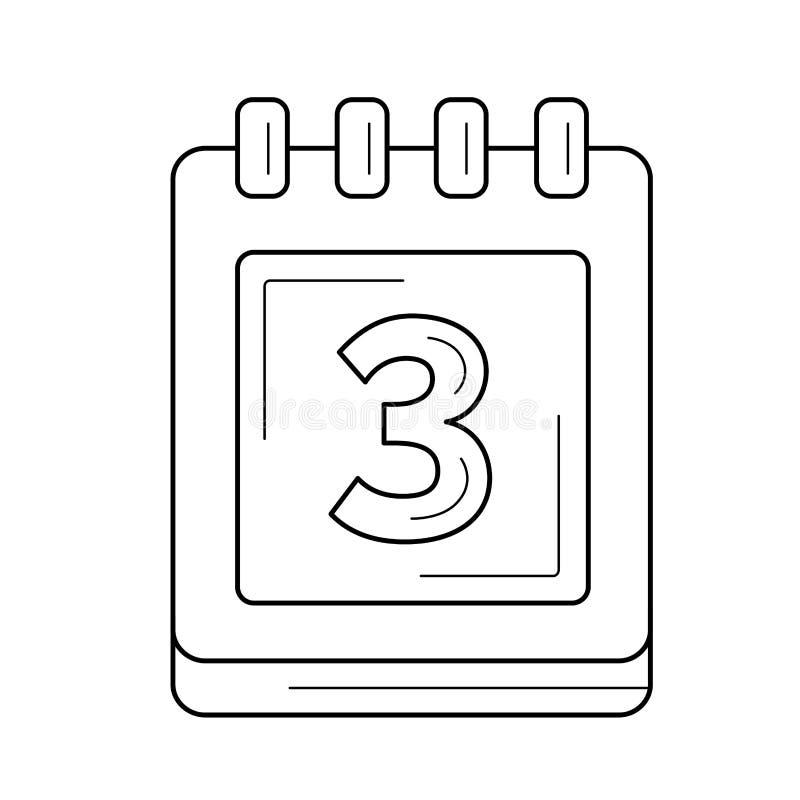 Kalenderorganisatörlinje symbol royaltyfri illustrationer