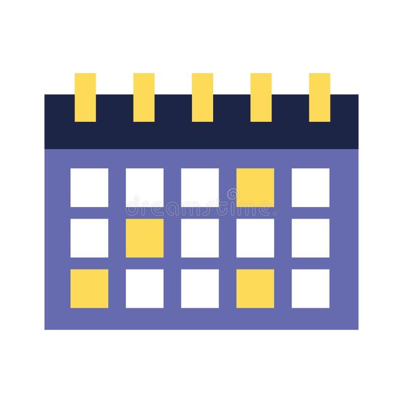 Kalenderpåminnelsedatum på vit bakgrund vektor illustrationer