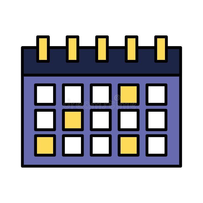 Kalenderpåminnelsedatum på vit bakgrund royaltyfri illustrationer