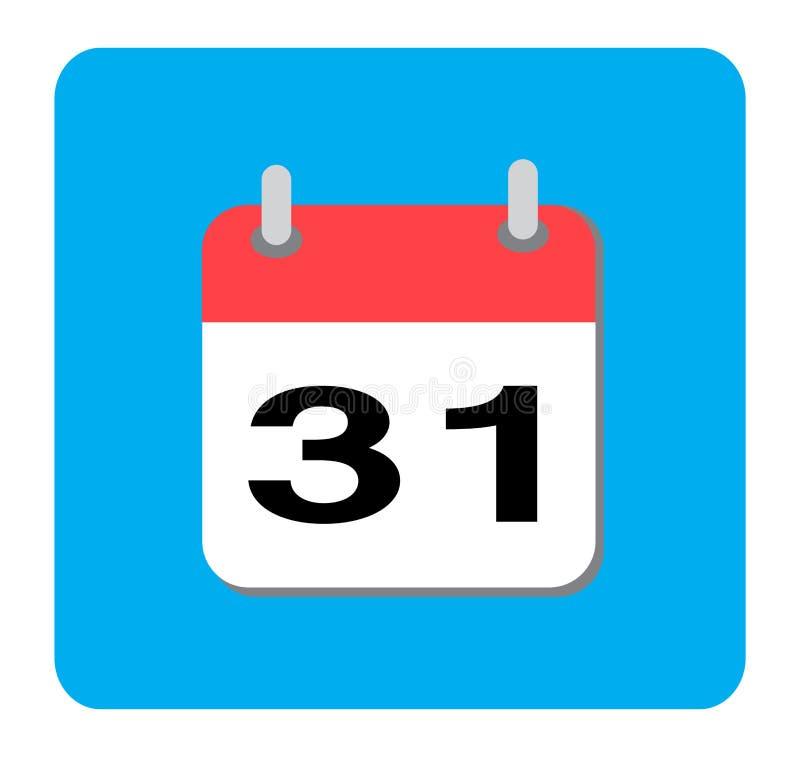Kalenderpictogram, Vlak kalenderpictogram Vector illustratie royalty-vrije stock foto
