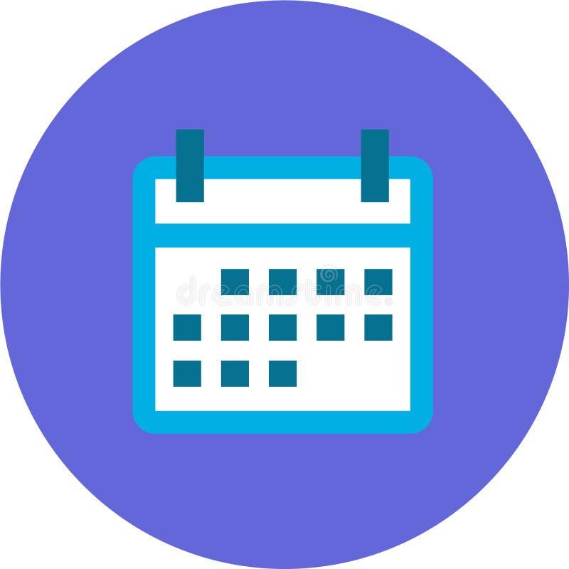 Kalenderpictogram voor Android, IOS Toepassingen en Webtoepassingen stock illustratie
