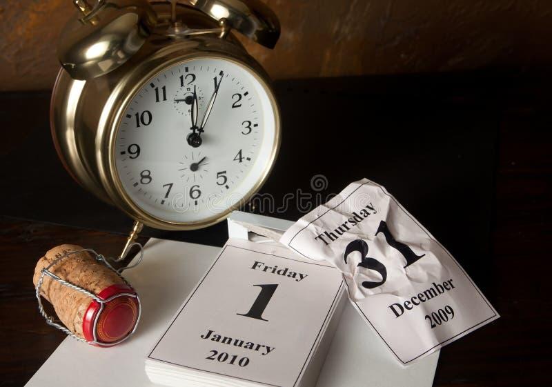 Kalenderseite des neuen Jahres stockfotografie