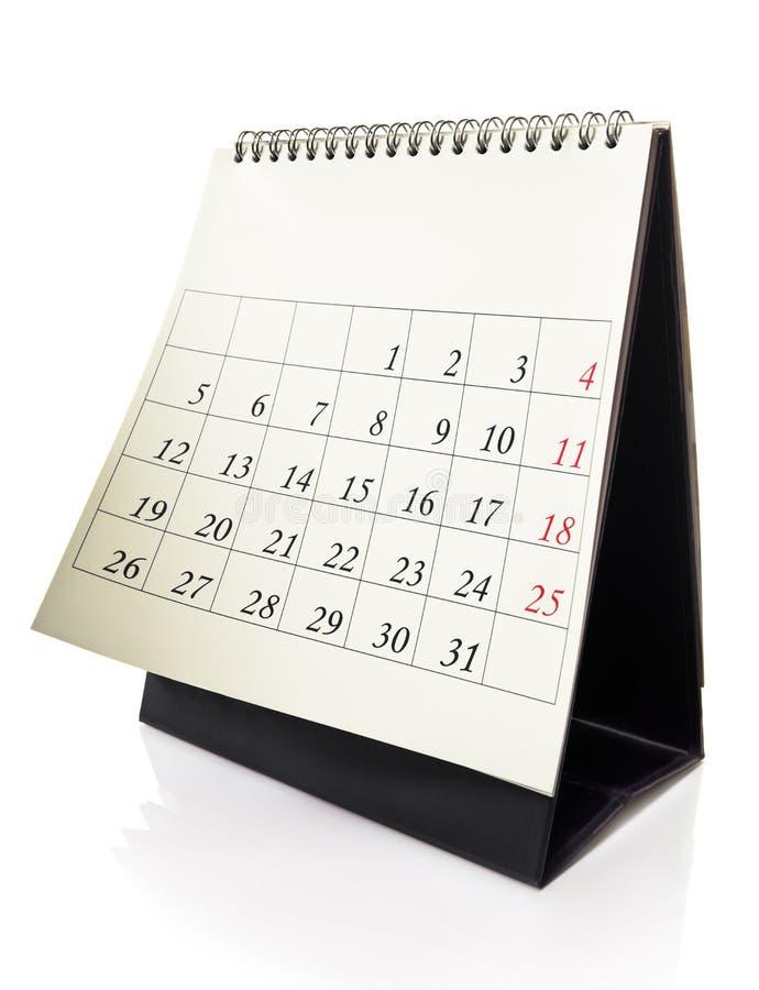 kalenderskrivbord royaltyfria bilder