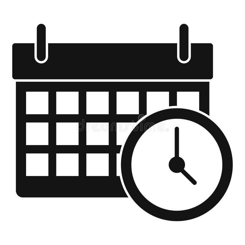 Kalenderstempeluhrikone, einfache Art stock abbildung