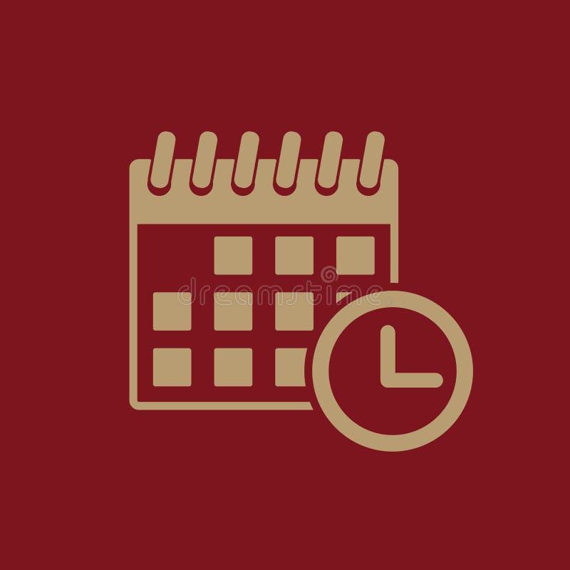 Kalendersymbolen Påminnelse och händelse, tidsymbol plant vektor illustrationer