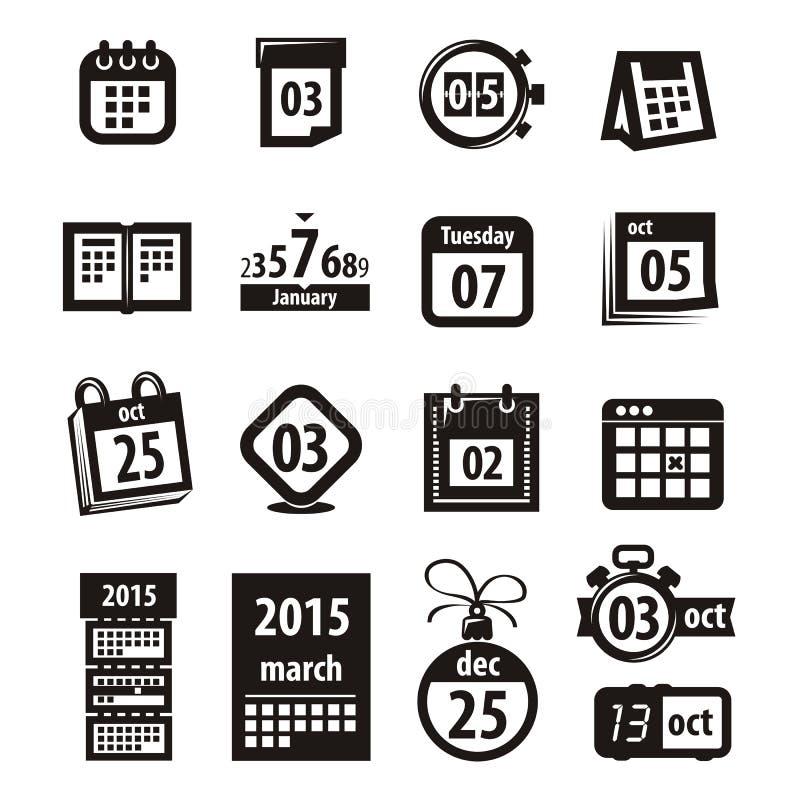 Kalendersymboler. Vektorformat stock illustrationer