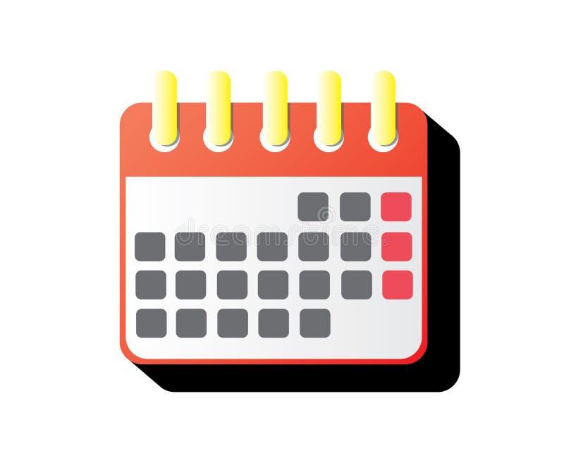 Kalendersymbolsillustration vektor illustrationer