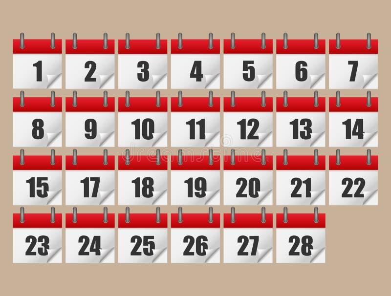 Kalendersymbolsuppsättning också vektor för coreldrawillustration Denna är mappen av formatet EPS10 royaltyfri illustrationer