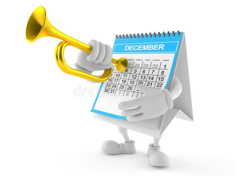 Kalendertecken som spelar trumpeten vektor illustrationer