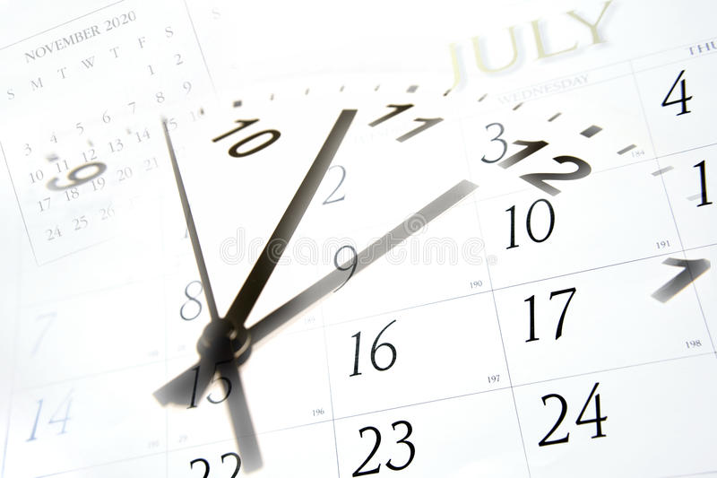 kalendertid royaltyfri fotografi