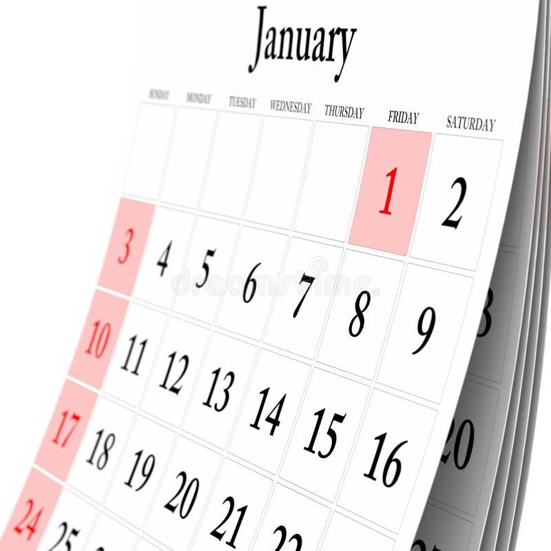 kalendervägg royaltyfri illustrationer