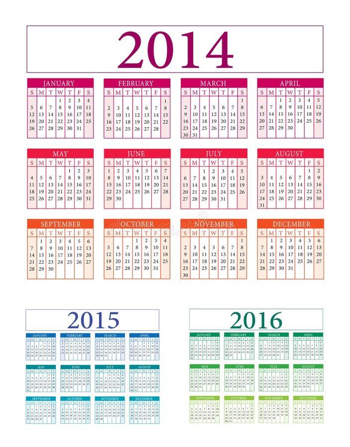 Kalendervector royalty-vrije illustratie