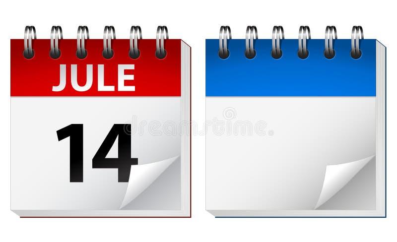kalendervektor stock illustrationer