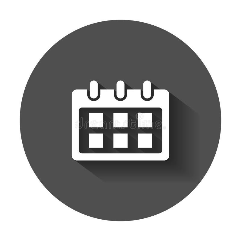 Kalendervektorsymbol Illustration för påminnelsedagordningtecken Affär stock illustrationer