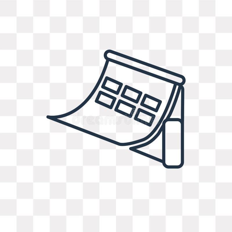 Kalendervektorsymbol som isoleras på genomskinlig bakgrund som är linjär vektor illustrationer