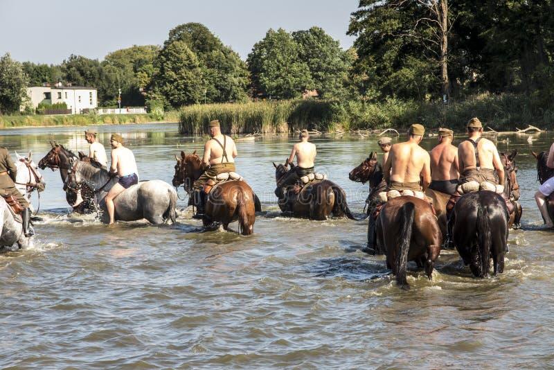 Kalety, Poland - August 31, 2019: Historic Third Silesian Uhlan Regiment on horses on august 31, 2019 in Kalety - Zielona, Poland. Silesia stock images