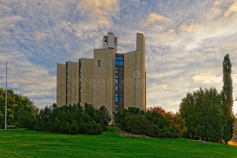 Kaleva kościół w Tampere, Finlandia zdjęcia royalty free