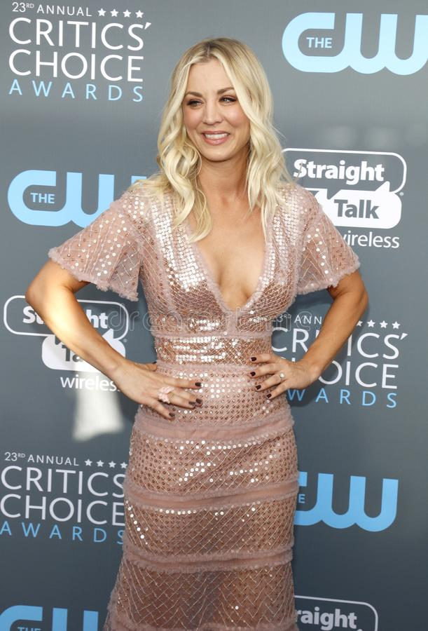 Kaley Cuoco foto de stock