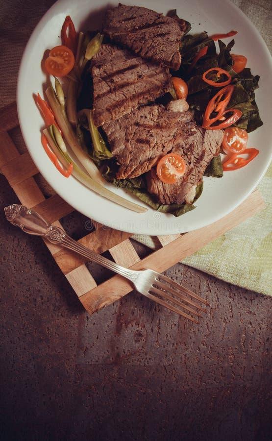 Kalfsvleeslapjes vlees royalty-vrije stock foto's