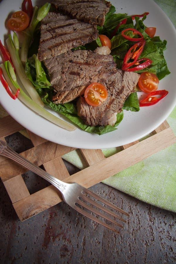 Kalfsvleeslapjes vlees stock foto