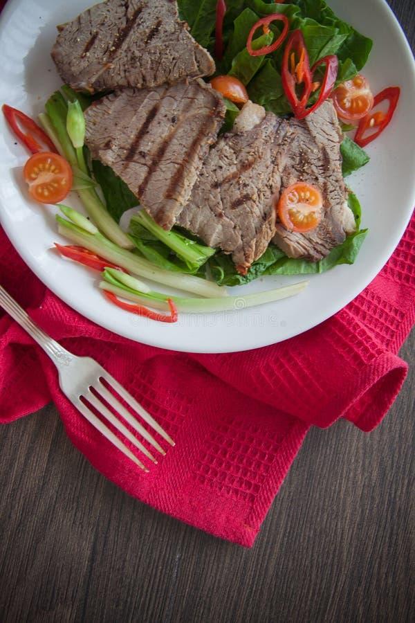 Kalfsvleeslapjes vlees stock afbeeldingen