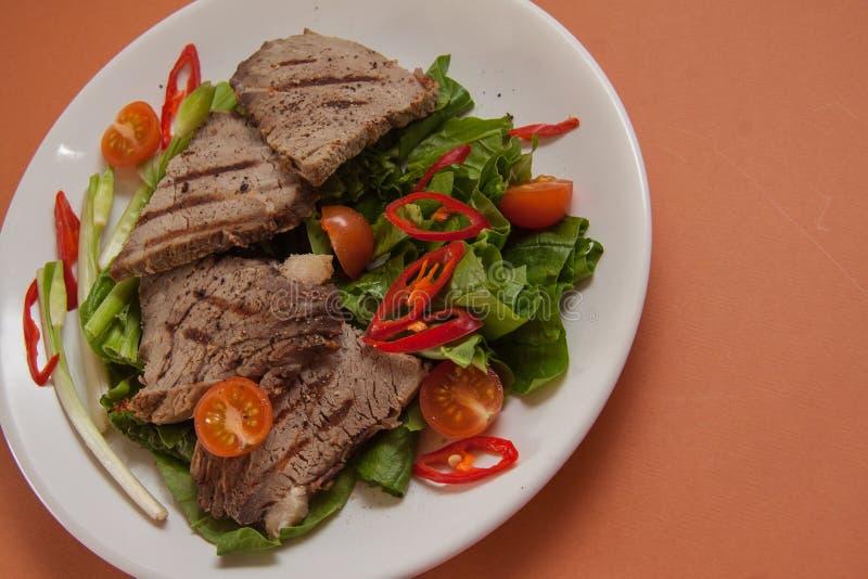 Kalfsvleeslapjes vlees royalty-vrije stock afbeeldingen