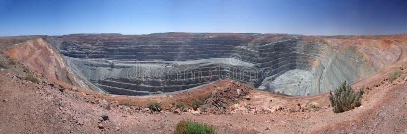kalgoorlie超级最小值的坑 库存照片