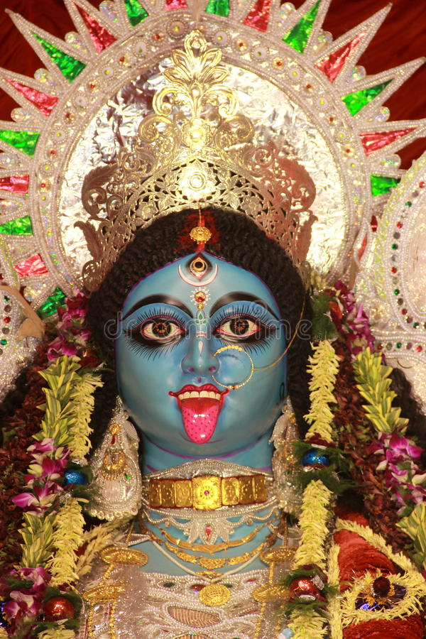 Kali - индийская сторона богини. стоковое фото