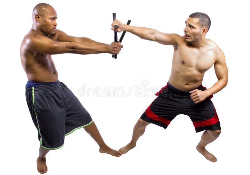 Kali Escrima Arnis Martial Artists imagem de stock royalty free