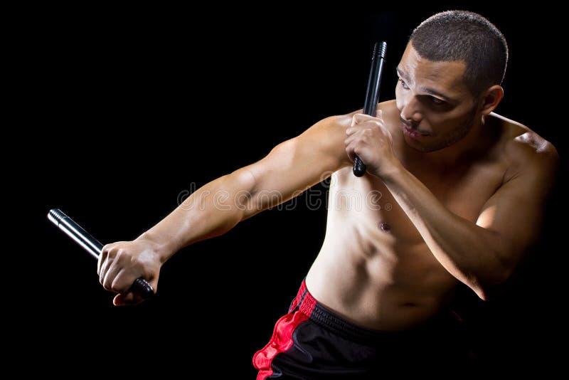 Kali Escrima Martial Arts Instructor royaltyfria foton
