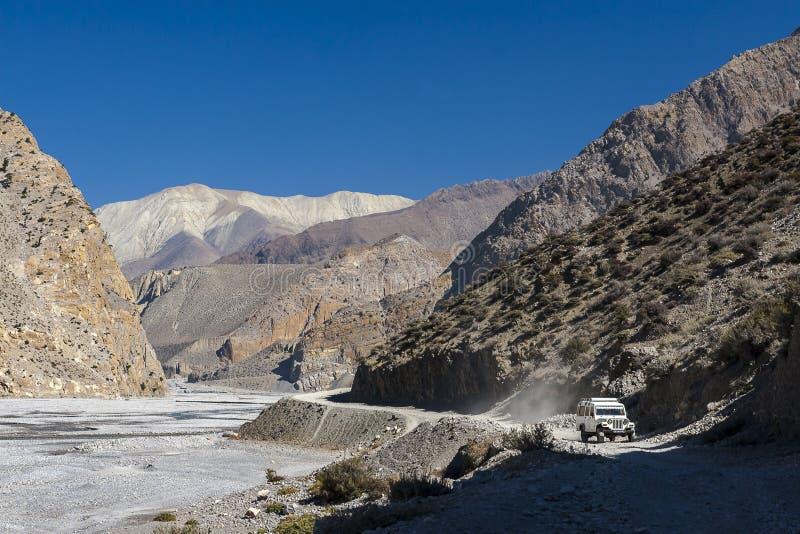 Kali Gandaki is een rivier in Nepal en India, een linkerschatplichtige van stock afbeelding