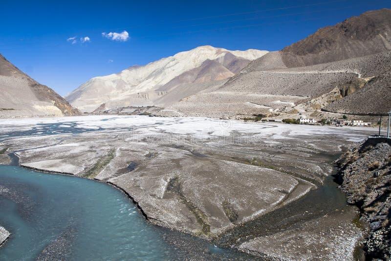 Kali Gandaki is een rivier in Nepal en India, een linkerschatplichtige van royalty-vrije stock afbeeldingen