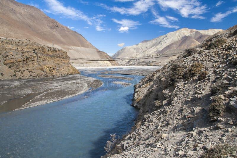 Kali Gandaki est une rivière au Népal et l'Inde, a quitté le tributaire de image libre de droits