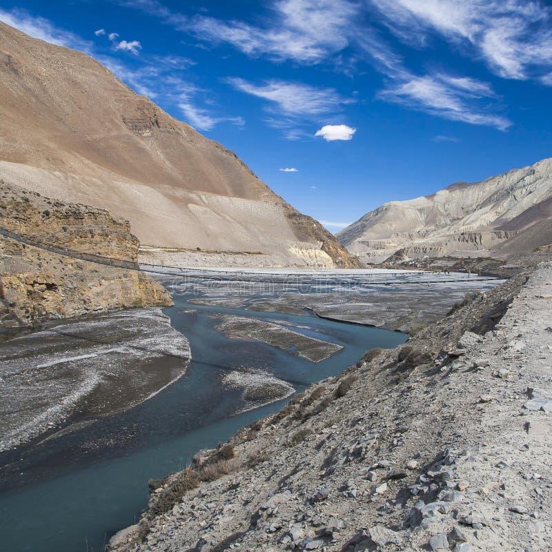 Kali Gandaki ist ein Fluss in Nepal und Indien, verließ Steuerbares von lizenzfreie stockfotos