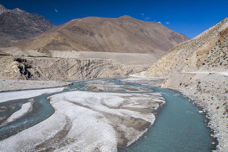 Kali Gandaki ist ein Fluss in Nepal und Indien, verließ Steuerbares von stockfotografie