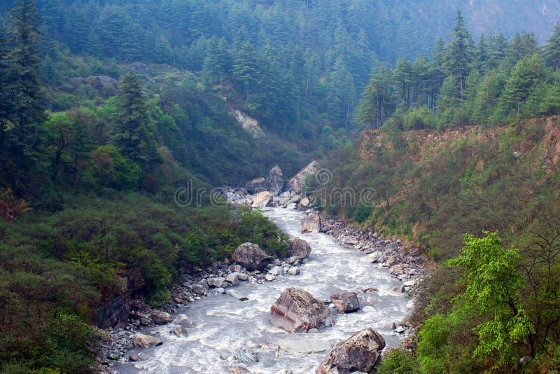 Kali Gandaki-rivier, Nepal royalty-vrije stock foto