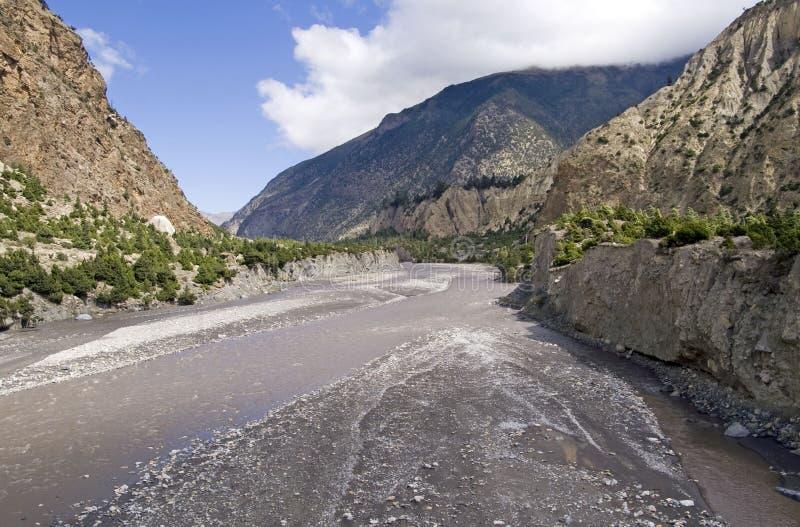 Kali Gandaki Schlucht lizenzfreies stockbild