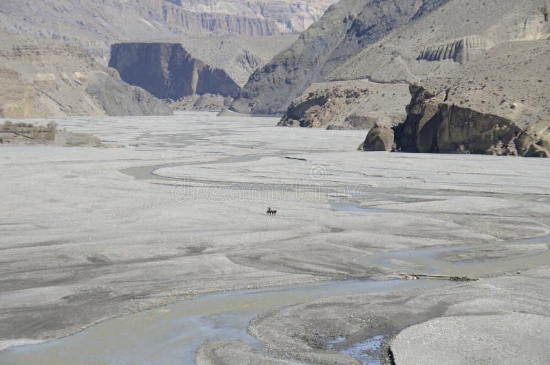 Kali-Gandaki Schlucht, Mustang stockfotos