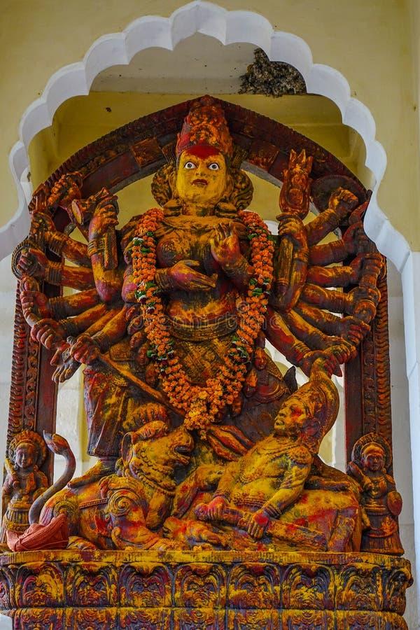 Kali God Statue en el fuerte de Mehrangarh imagenes de archivo