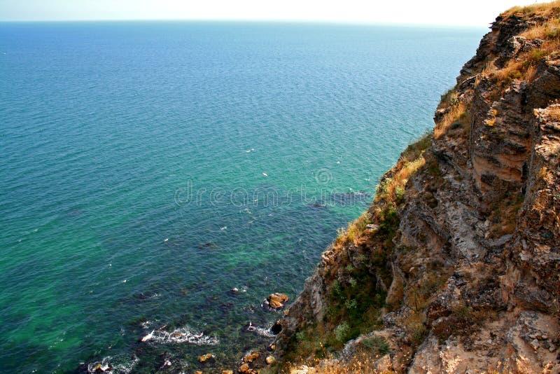 kaliakra встречает море утесов стоковое изображение rf