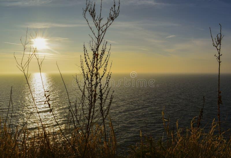 Is Kaliakra uitgesproken Kaliakra een lange en smalle kaap op de Bulgaarse noordelijke kust van de Zwarte Zee, in het meest south royalty-vrije stock afbeelding