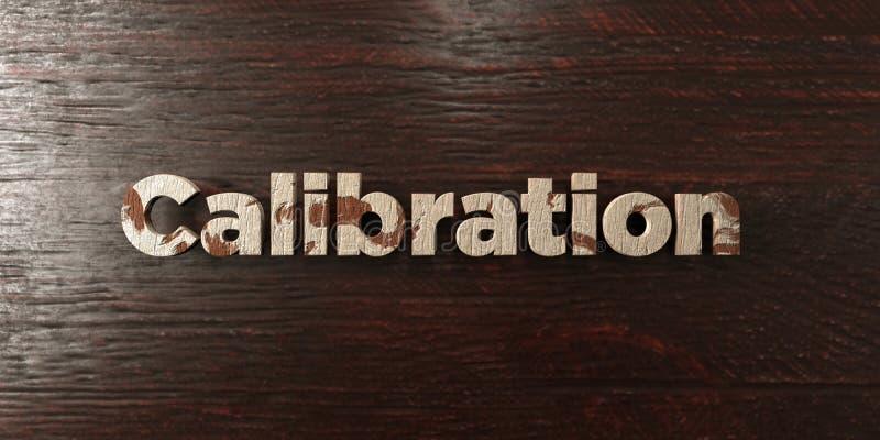 Kalibrering - grungy trärubrik på lönn - 3D framförd fri materielbild för royalty stock illustrationer