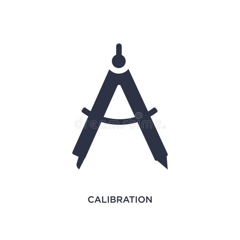 kalibreringssymbol på vit bakgrund Enkel beståndsdelillustration från mätningsbegrepp royaltyfri illustrationer