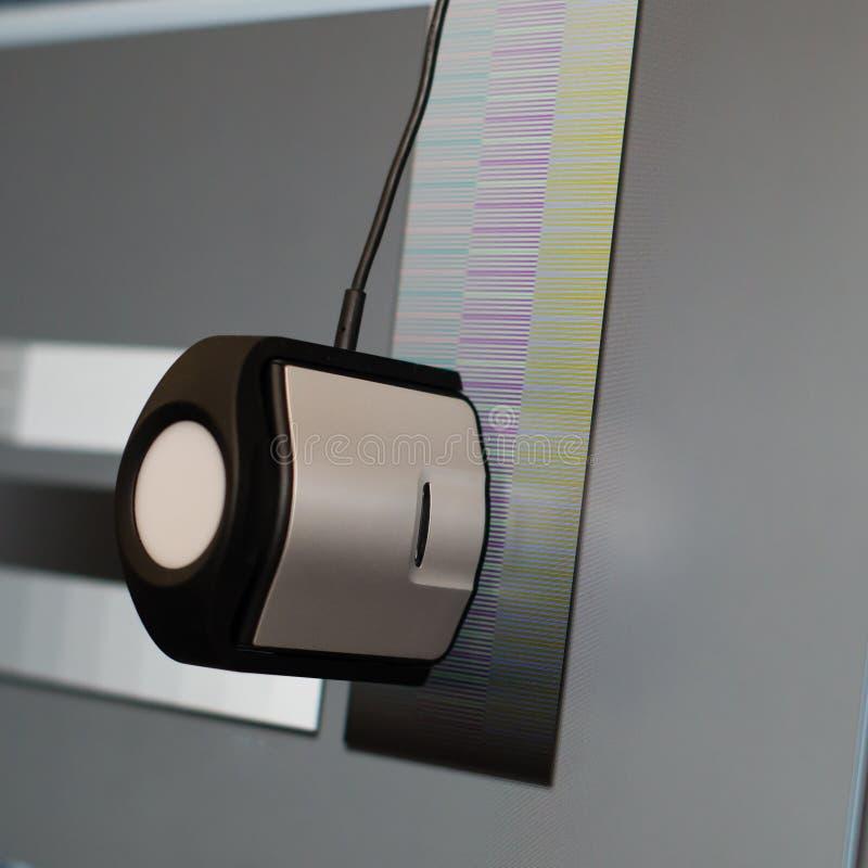 Kalibrierung der Anzeige eines Computers, Nahaufnahme lizenzfreie stockfotos