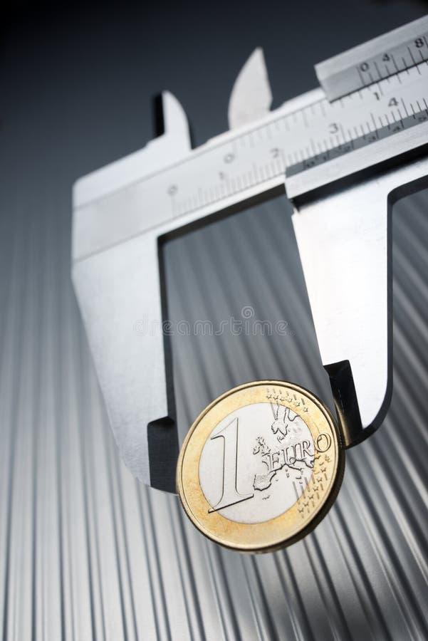 Kalibrierung des Euro lizenzfreie stockfotografie