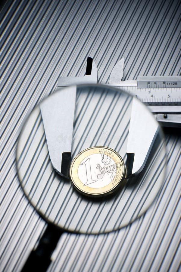 Kalibrierung des Euro lizenzfreies stockfoto