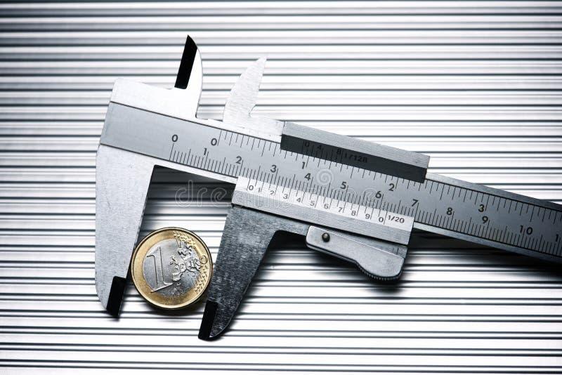 Kalibrierung des Euro stockfotografie