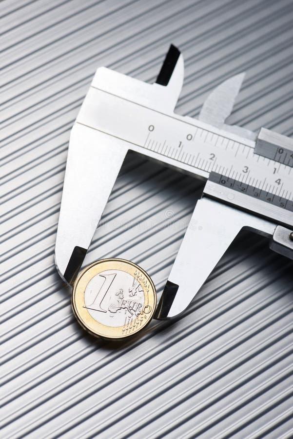 Kalibrierung des Euro stockfotos